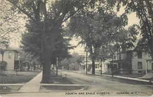 Fourth and Eagle Streets Dunkirk New York Divided Back NY