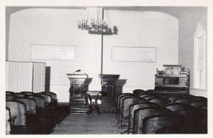 RP; Interior, Church of Christian Science with scripture & quotes on wall, 30...
