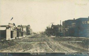 NE, Hartington, Nebraska, Main Street, T.E. Holderson No. 11-J, RPPC