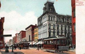 Street Scene, East Water Street, Elmira, New York, Early Postcard, Used in 1908
