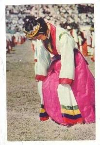 Girl in ceremonial dance, South Korea PU 1961