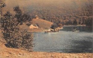 LPS35 Dixville Notch New Hampshire Lake Glorietta Swimming Pool Postcard