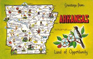 Arkansas Hot Springs Greetings From With Map