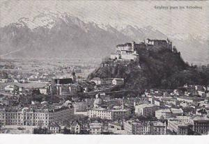 Aerial View, Galzburg gegen den Untersberg, Salzburg, Austria, PU