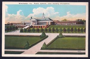 John Handley Foundation School Winchester VA unused c1915's