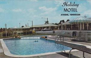 Swimming Pool,  Holiday Motel,  U.S. 11 by-Pass,  Athens,  Tennessee,    40-60s