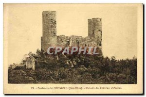 Old Postcard Hohwald Bas Rhin surroundings Ruins of Chateau Andlau