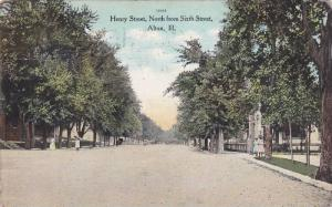 Looking Down Henry Street, North From Sixth Street, Alton, Illinois, PU-1909