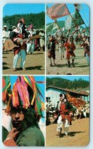 CHAMULA, CHIAPAS Mexico ~ CARNAVAL en CHAMULA Carnival Scenes c1950s Postcard