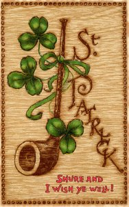 Greeting - St Patrick's Day        (embossed, Tuck)