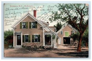 Wolfeboro NH McDonald's Home House Postcard Hand Colored