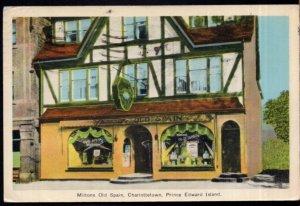 Prince Edward Island CHARLOTTETOWN Miltons Old Spain pm1941 - PECO White Border