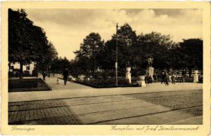 CPA GRONINGEN Heereplein met Jozef Israelsmonument NETHERLANDS (604193)