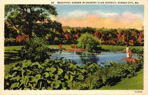 Missouri Kansas City Beautiful Garden In The Country Club District Curteich