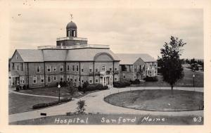 Sanford Maine~Hospital~Circle Drive~1920s Real Photo Postcard~RPPC