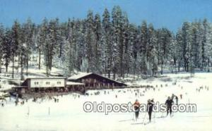 Badger Pass Ski House, Yosemite National Park, CA USA Ski, Skiing Postcard Po...
