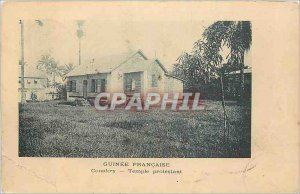 Old Postcard Guinea Conakry French Protestant Church