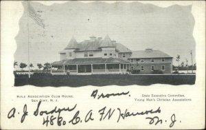 Sea Girt NJ Rifle Assoc Club House c1905 Postcard