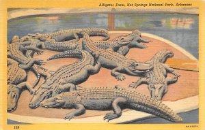 Alligators Alligator Farm Hot Springs National Park, Arkansas, USA Writing on...