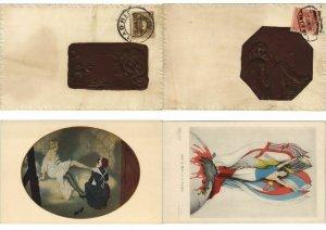 RAPHAEL KIRCHNER ART SIGNED ART NOUVEAU COLLECTION OF 150 CPA (L3747)