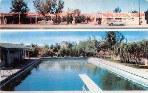 Mexico Old Vintage Antique Post Card Santa Rita Motel Chihuahua Writing on back