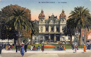 The Casino, Monte Carlo, Monaco, Early Postcard, Unused