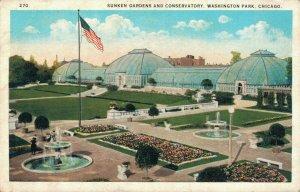 USA - Sunken Gardens And Conservatory Washington Park Chicago 04.23