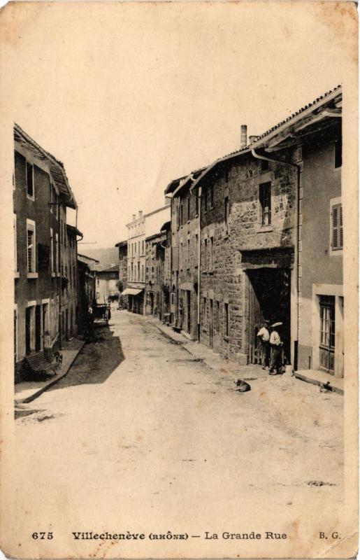 CPA  Villecheneve - Villechenéve - La Grande Rue  (635810)