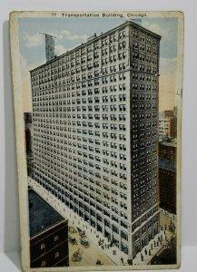 VTG Postcard Transportation Building Chicago Illinois 1923 linen Pratt City  523