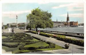 Sweden Stockholm View from the Town Hall Garden Promenade Postcard