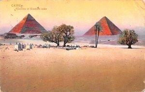 Pyramides et Cimetiere Arabe Egypt, Egypte, Africa Postal Used Unknown