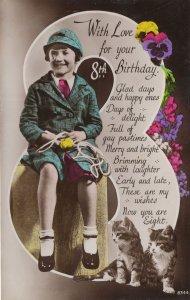 Swingball Tennis Ball On Swing Childrens Old Game Birthday Postcard