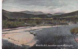 New Hampshire White Mountains Saco River And Mount Washington