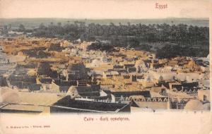 Cairo Egypt Turk Cemeteries Birds Eye View Antique Postcard J75902