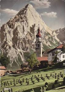 Austria Lermoos mit Sonnenspitze im Tirol 1962 Real Photo