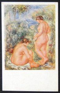 140506 RENOIR Idyll Naked Women Bathing Nude Female French Art VTG pc c.1910