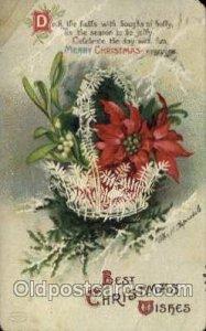 Artist Ellen Clapsaddle, Christmas 1913 tape left top corner protecting creas...