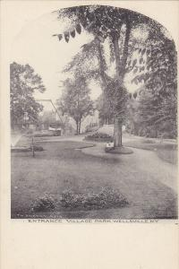 Entrance Village Park , WELLSVILLE  , New York , Pre-1907