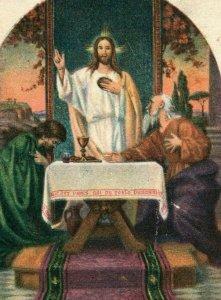 1890s Religious Latin Jesus Emmaus P222