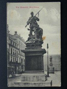 Manchester WAR MEMORIAL - Old Postcard by J.E. Nancarrow