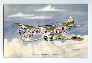 ac0295 - Aircraft - Bristol Beaufort Bomber, Artist - A.F.D.Bannister - postcard