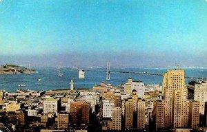 San Francisco California Skyline Postcard Union 76 Oil JM Lewison San Jose