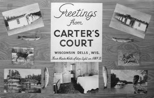 Wisconsin Dells WI~Carter's Court~Multi Mini Views~Kitchenette~Cabins~1960s RPPC