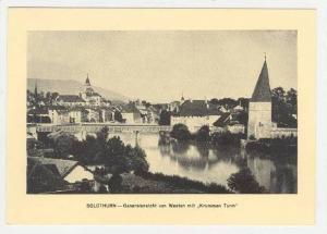 Solothurn , SWitzerland, Generalansivht von Western mit  Krummen Turm , 20-40s