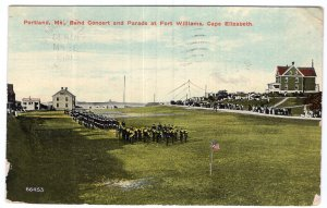 Portland, Me, Band Concertt and Parade at Fort Williams, Cape Elizabeth