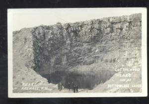 RPPC ROSWELL NEW MEXICO COTTONWOOD LAKE NM REAL PHOTO POSTCARD