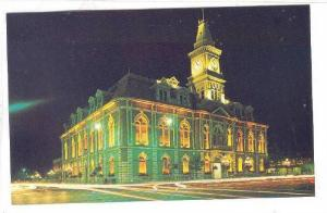 City Hall - Illuminated, Victoria, British Columbia, Canada, 1940-1960s