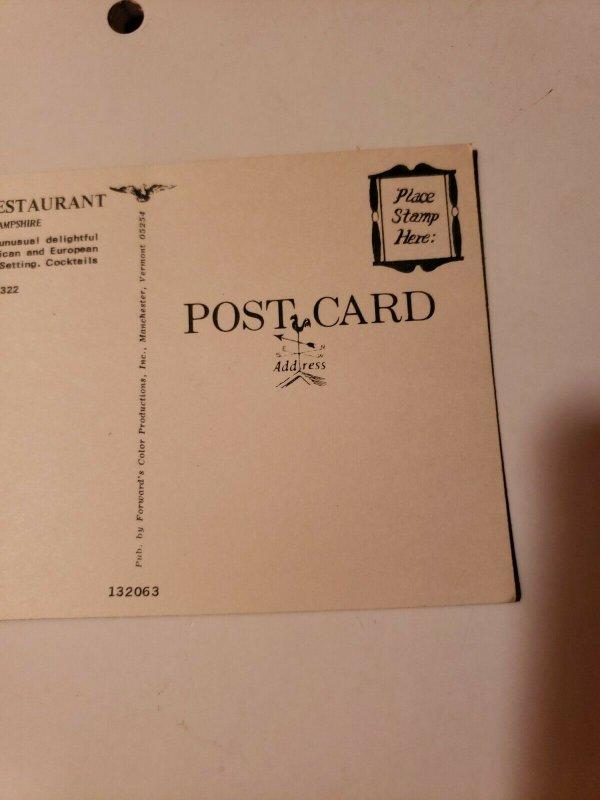 Vintage postcard The Old Forge Restaurant West Rindge New Hampshire unused