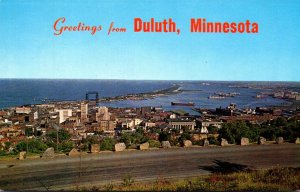 Minnesota Duluth Greetings Showing View From Boulevard Drive