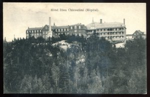 dc1298 - CHICOUTIMI Quebec Postcard 1910s Hospital by Cote